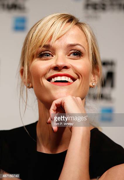 Actress Reese Witherspoon attends the press conference of Wild during the 58th BFI London Film Festival at The Mayfair Hotel on October 13 2014 in...
