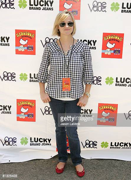 Actress Reese Witherspoon attends the Second Annual Kidstock Music and Art Festival on June 1 2008 in Beverly Hills California