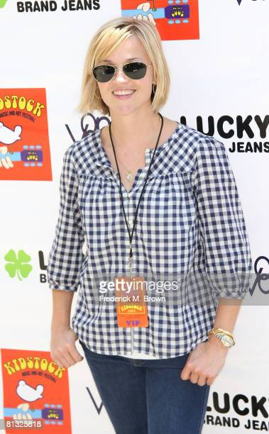 Actress Reese Witherspoon attends the Second Annual Kidstock Music and Art Festival at the Greystone Mansion June 1 2008 in Beverly Hills California