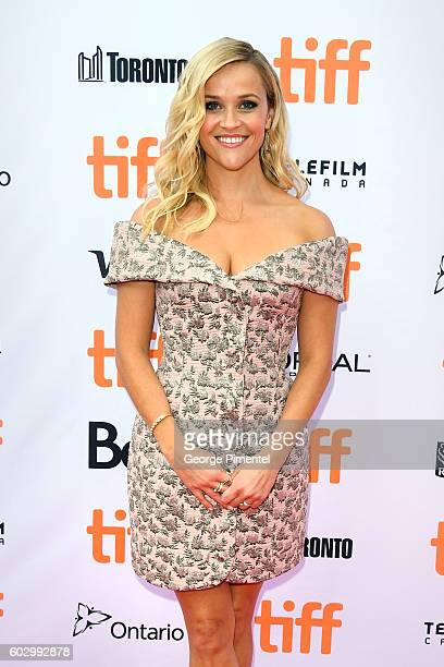 """Actress Reese Witherspoon attends the """"Sing"""" premiere during the 2016 Toronto International Film Festival at Princess of Wales Theatre on September..."""