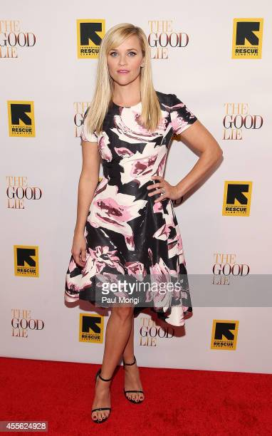 Actress Reese Witherspoon attends the The Good Lie Washington DC Premiere at The Newseum on September 17 2014 in Washington DC
