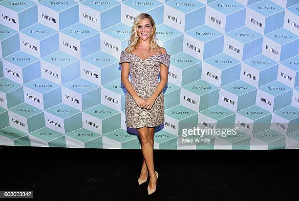 Actress Reese Witherspoon attends the Vanity Fair and Tiffany Co private dinner toasting Lupita Nyong'o and celebrating Legendary Style at ShangriLa...
