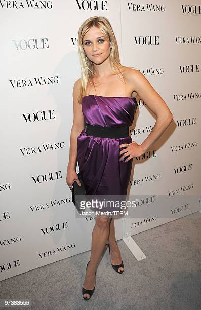 Actress Reese Witherspoon attends the Vera Wang Store Launch at Vera Wang Store on March 2 2010 in Los Angeles California