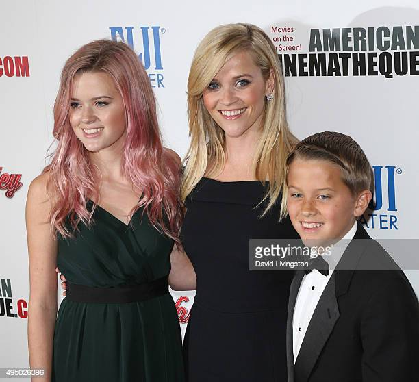 Actress Reese Witherspoon Ava Phillippe and Deacon Phillippe attend the 29th American Cinematheque Award Honoring Reese Witherspoon Arrivals at the...