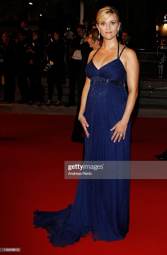 Actress Reese Witherspoon departs the 'Mud' Premiere during the 65th Annual Cannes Film Festival at Palais des Festivals on May 26, 2012 in Cannes, France.