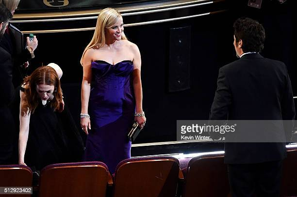Actress Reese Witherspoon in the audience during the 88th Annual Academy Awards at the Dolby Theatre on February 28 2016 in Hollywood California