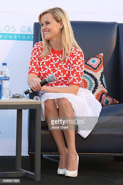Actress Reese Witherspoon opens the Los Cabos International Film Festival with the Latin American premiere of WILD on November 12 2014 in Cabo San...
