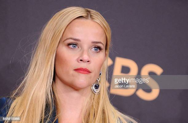 Actress Reese Witherspoon poses in the press room at the 69th annual Primetime Emmy Awards at Microsoft Theater on September 17 2017 in Los Angeles...