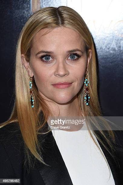 Actress Reese Witherspoon poses in the press room during the 19th Annual Hollywood Film Awards at The Beverly Hilton Hotel on November 1 2015 in...