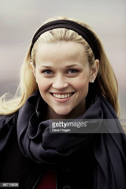Actress Reese Witherspoon promotes her new film Walk The Line a Johnny Cash biopic at The Oxo Tower on February 1 2006 in London England