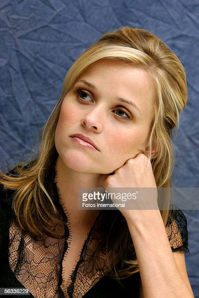 Actress Reese Witherspoon talks at the Four Season's Hotel on October 10 2005 in Beverly Hills California