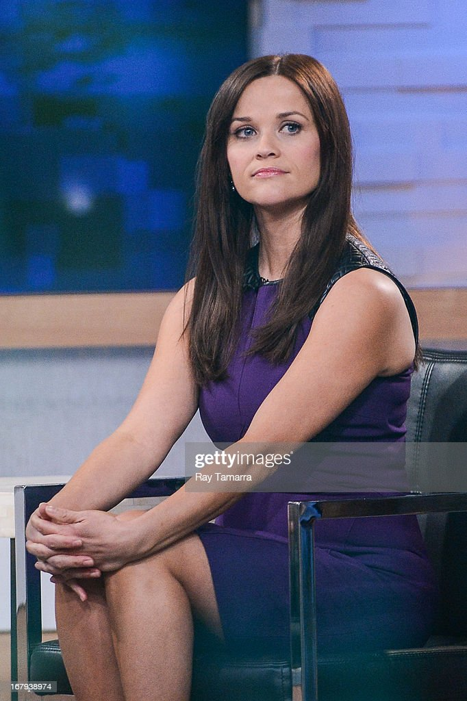 Actress Reese Witherspoon tapes an interview at 'Good Morning America' at the ABC Times Square Studios on May 2, 2013 in New York City.