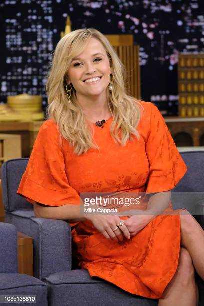 Actress Reese Witherspoon visits The Tonight Show Starring Jimmy Fallon at Rockefeller Center on September 17 2018 in New York City