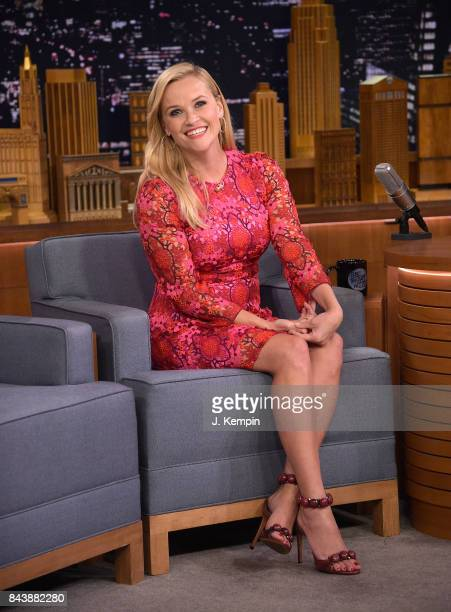 Actress Reese Witherspoon visits The Tonight Show Starring Jimmy Fallon at Rockefeller Center on September 7 2017 in New York City