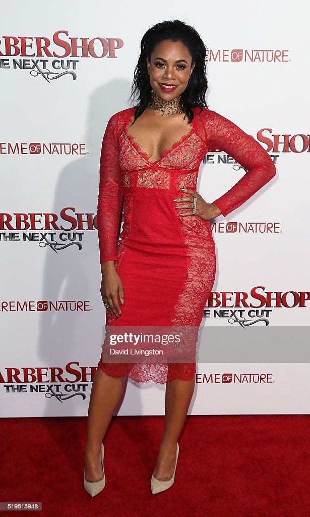 Actress Regina Hall attends the premiere of New Line Cinema's 'Barbershop: The Next Cut' at the TCL Chinese Theatre on April 6, 2016 in Hollywood, California.