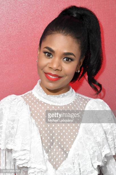 Moderator actress Azia Celestino takes part in the SAGAFTRA Foundation Conversations for the film 'Support The Girls' at The Robin Williams Center on...