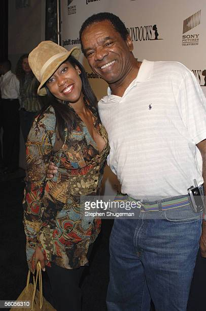 """Actress Regina King and actor John Witherspoon attend the Los Angeles Launch Party For The TV Series """"The Boondocks"""" at Mood on November 1, 2005 in..."""