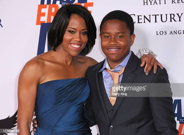 Actress Regina King and her son Ian Alexander Jr arrive at the 18th Annual Race To Erase MS Event at the Hyatt Regency Century Plaza on April 29 2011...