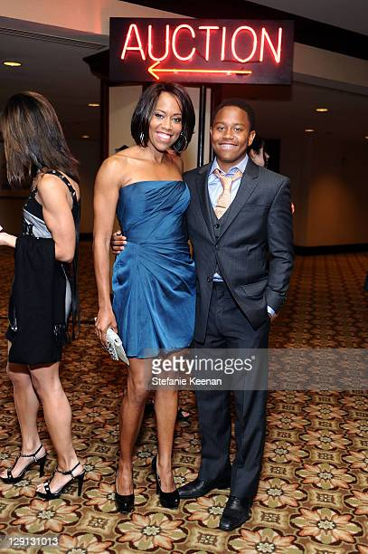 Actress Regina King and son Ian Alexander Jr attend the 18th Annual Race to Erase MS event cocktail reception cochaired by Nancy Davis and Tommy...