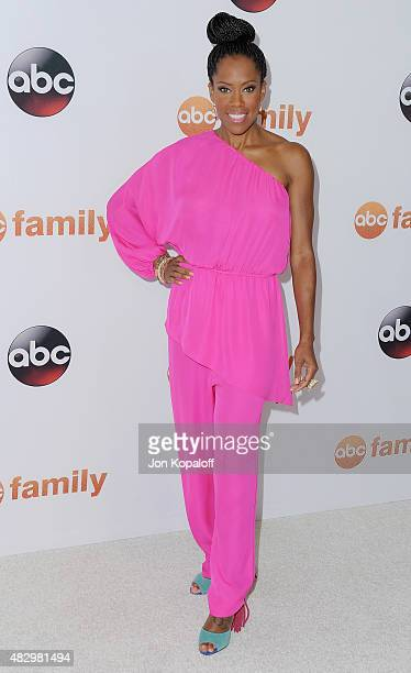 Actress Regina King arrives at Disney ABC Television Group's 2015 TCA Summer Press Tour at the Beverly Hilton Hotel on August 4 2015 in Beverly Hills...