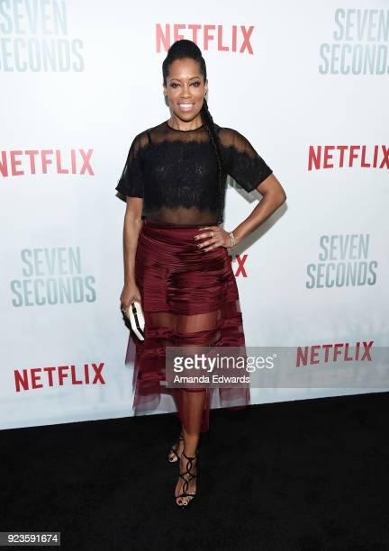 Actress Regina King arrives at Netflix's 'Seven Seconds' Premiere at The Paley Center for Media on February 23 2018 in Beverly Hills California