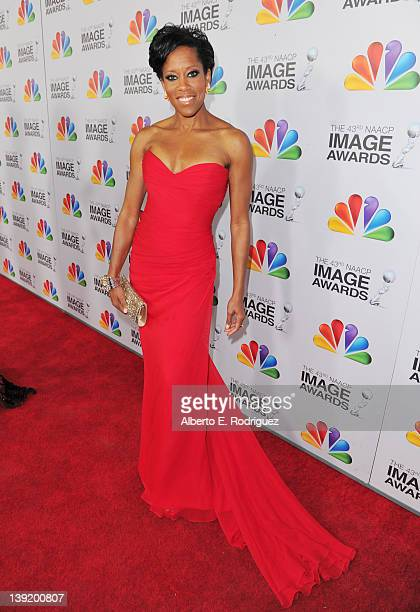 Actress Regina King arrives at the 43rd NAACP Image Awards held at The Shrine Auditorium on February 17 2012 in Los Angeles California