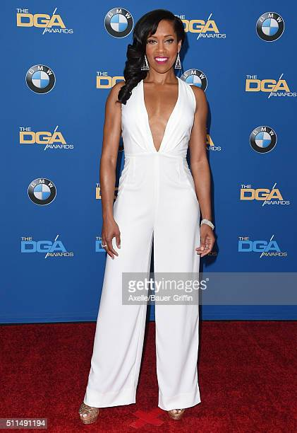 Actress Regina King arrives at the 68th Annual Directors Guild of America Awards at the Hyatt Regency Century Plaza on February 6 2016 in Los Angeles...