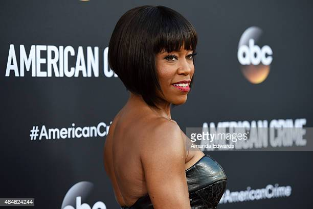 """Actress Regina King arrives at the """"American Crime"""" premiere event at the Ace Hotel on February 28, 2015 in Los Angeles, California."""