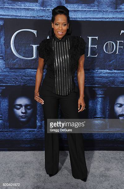 Actress Regina King arrives at the premiere of HBO's 'Game Of Thrones' Season 6 at TCL Chinese Theatre on April 10 2016 in Hollywood California