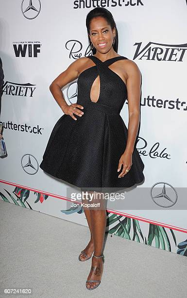 Actress Regina King arrives at Variety And Women In Film's PreEmmy Celebration at Gracias Madre on September 16 2016 in West Hollywood California