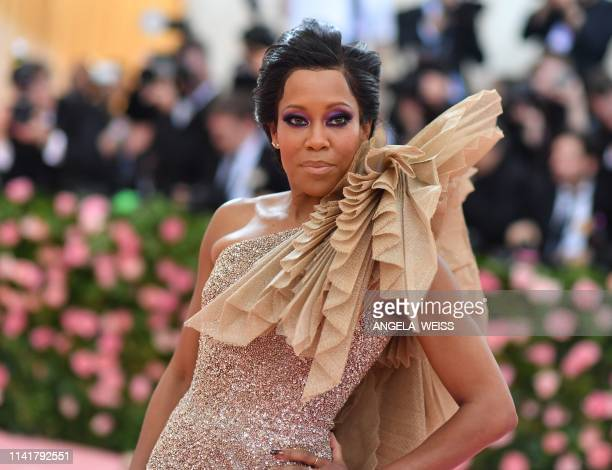 US actress Regina King arrives for the 2019 Met Gala at the Metropolitan Museum of Art on May 6 in New York The Gala raises money for the...