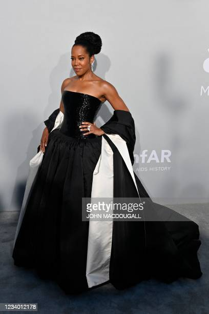 Actress Regina King arrives on July 16, 2021 to attend the amfAR 27th Annual Cinema Against AIDS gala at the Villa Eilenroc in Cap d'Antibes,...