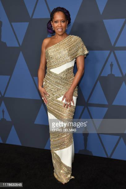US actress Regina King arrives to attend the 11th Annual Governors Awards gala hosted by the Academy of Motion Picture Arts and Sciences at the Dolby...