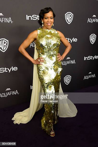Actress Regina King attends InStyle and Warner Bros 73rd Annual Golden Globe Awards PostParty at The Beverly Hilton Hotel on January 10 2016 in...