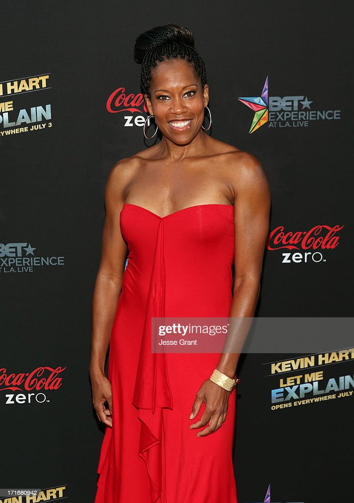 Actress Regina King attends Movie Premiere 'Let Me Explain' with Kevin Hart during the 2013 BET Experience at Regal Cinemas L.A. Live on June 27, 2013 in Los Angeles, California.