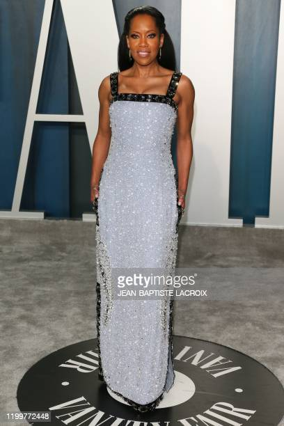 Actress Regina King attends the 2020 Vanity Fair Oscar Party following the 92nd annual Oscars at The Wallis Annenberg Center for the Performing Arts...