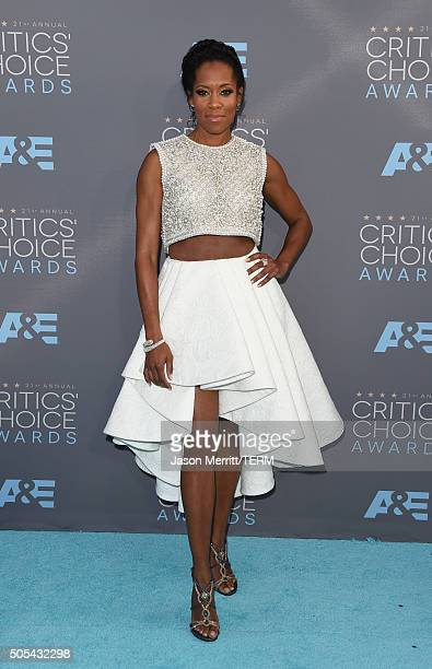 Actress Regina King attends the 21st Annual Critics' Choice Awards at Barker Hangar on January 17 2016 in Santa Monica California