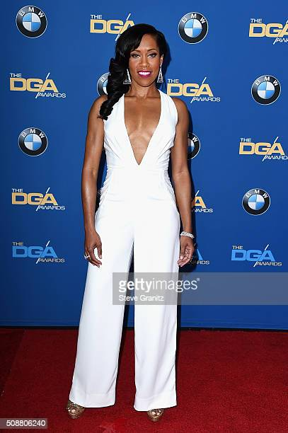 Actress Regina King attends the 68th Annual Directors Guild Of America Awards at the Hyatt Regency Century Plaza on February 6 2016 in Los Angeles...