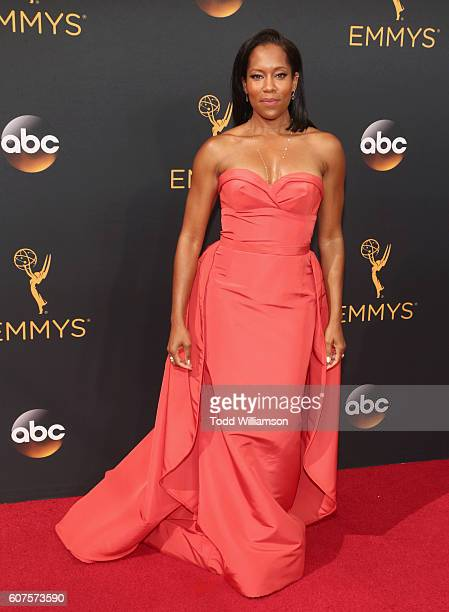 Actress Regina King attends the 68th Annual Primetime Emmy Awards at Microsoft Theater on September 18 2016 in Los Angeles California