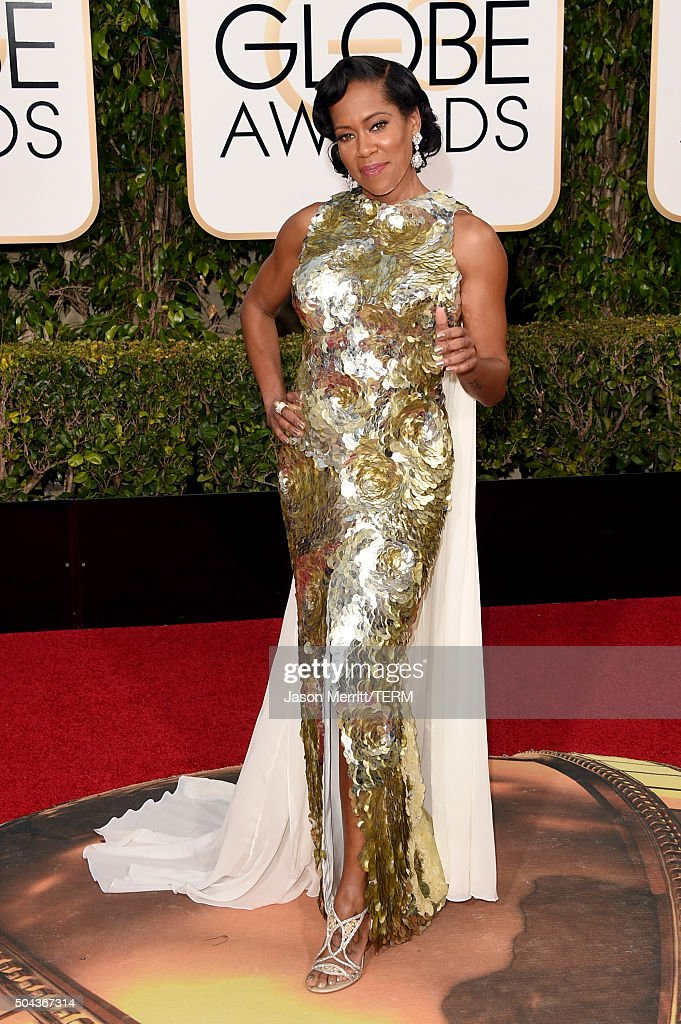 Actress Regina King attends the 73rd Annual Golden Globe Awards held at the Beverly Hilton Hotel on January 10, 2016 in Beverly Hills, California.