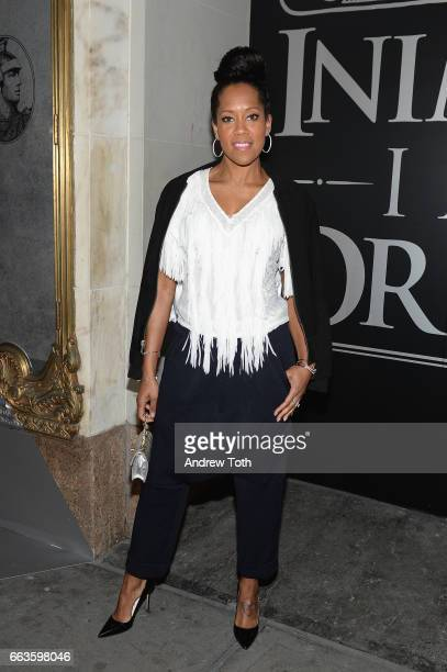 Actress Regina King attends the American Express Celebrates The New Platinum Card With Hamilton Takeover Experience on April 1 2017 in New York City