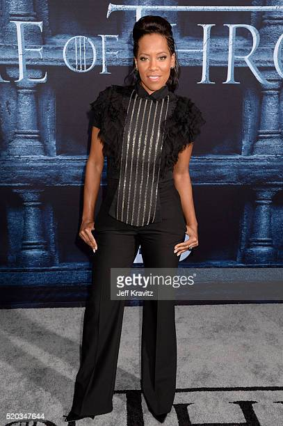 Actress Regina King attends the premiere for the sixth season of HBO's 'Game Of Thrones' at TCL Chinese Theatre on April 10 2016 in Hollywood City