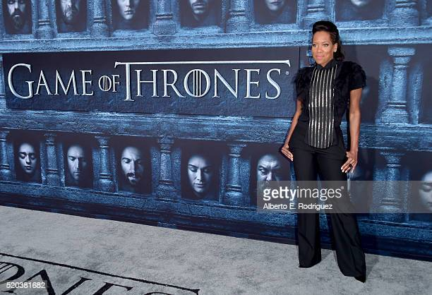 Actress Regina King attends the premiere of HBO's 'Game Of Thrones' Season 6 at TCL Chinese Theatre on April 10 2016 in Hollywood California