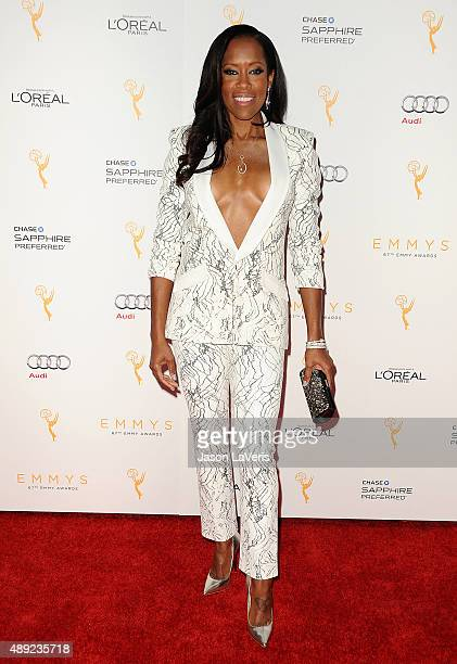 Actress Regina King attends the Television Academy's celebration for the 67th Emmy Award nominees for outstanding performances at Pacific Design...