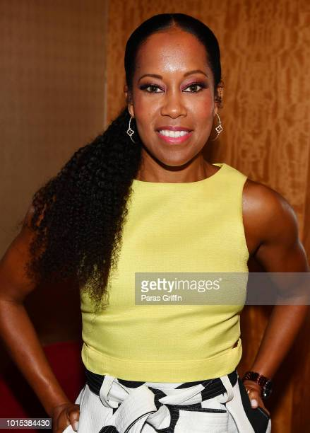 Actress Regina King backstage at 2018 Black Women's Expo at Georgia International Convention Center on August 11, 2018 in College Park, Georgia.