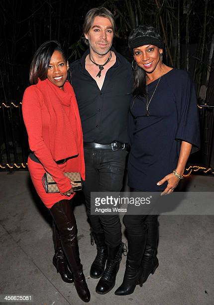 Actress Regina King hairstylist and creator of WEN Chaz Dean and actress Holly Robinson Peete attend Chaz Dean's Holiday Party benefiting The Love is...
