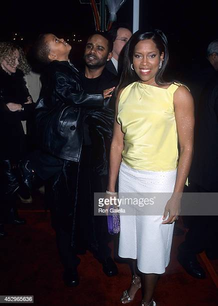 Actress Regina King husband Ian Alexander and son Ian Alexander Jr attend the Down to Earth Hollywood Premiere on February 12 2001 at the Mann's...