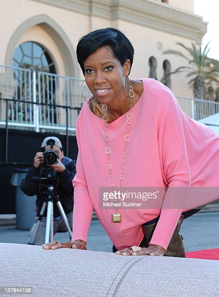Actress Regina King rolls out the red carpet for the 18th Annual Screen Actors Guild Awards Ceremony at The Shrine Auditorium on January 28 2012 in...