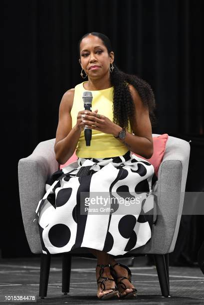 Actress Regina King speaks onstage at 2018 Black Women's Expo at Georgia International Convention Center on August 11, 2018 in College Park, Georgia.