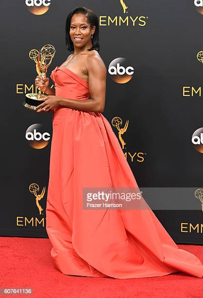 Actress Regina King winner of Best Supporting Actress in a MiniSeries or Movie for American Crime poses in the press room during the 68th Annual...